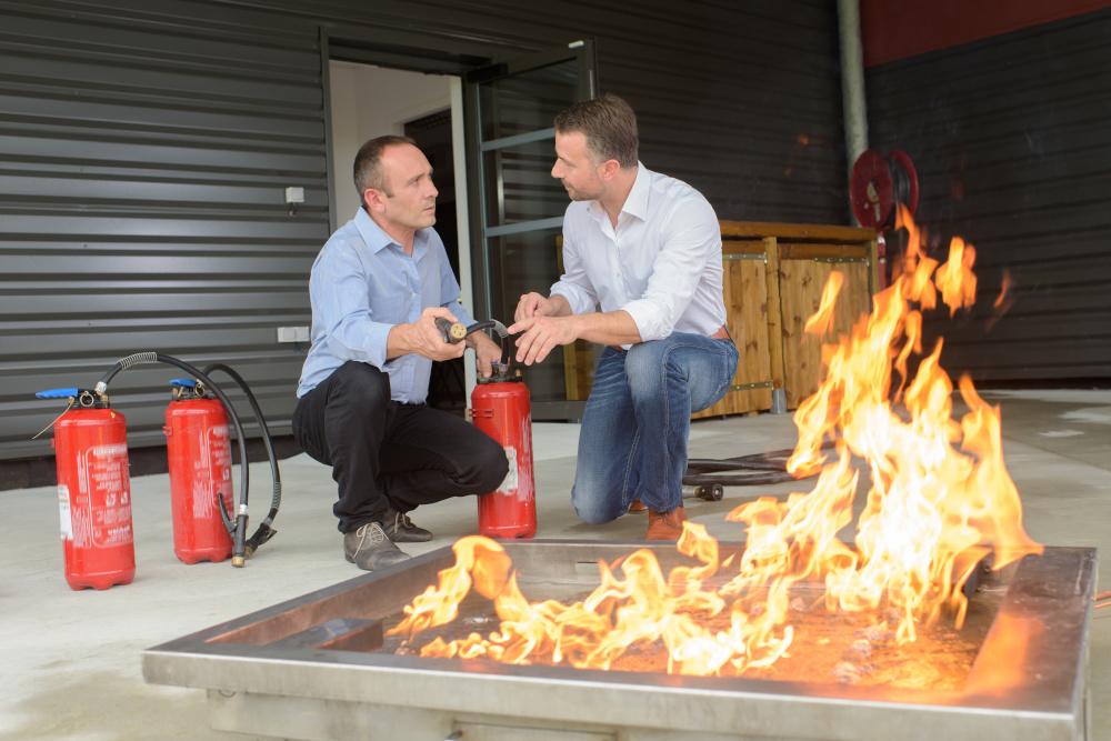trening gaszenia ognia
